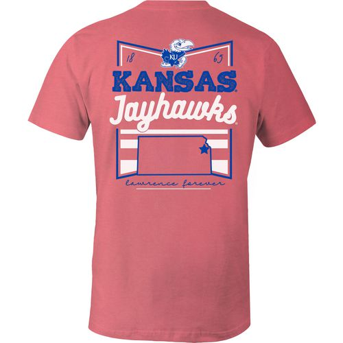 Image One Women's University of Kansas Forever Script Flag T-shirt - view number 1