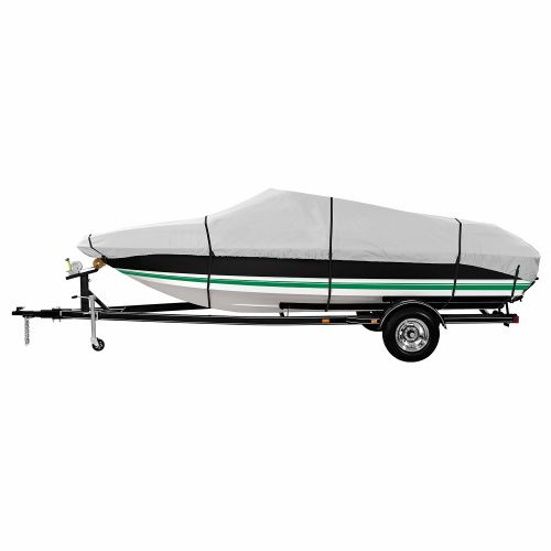 Marine Raider Gold Series Model A Boat Cover For 14' - 16' V-Hull Fishing Boats - view number 1