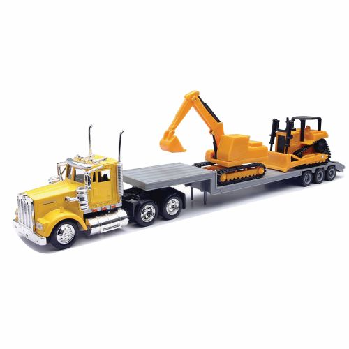 Toy Tractor Trailer Trucks : New ray toys kenworth tractor trailer academy