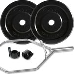CAP Barbell Bumper Plates and Hex Bar Set