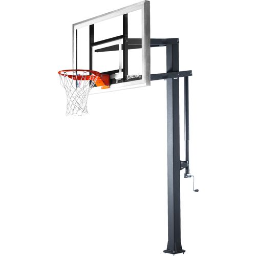 48-in Spalding Arena Series Glass In-Ground Basketball Hoop