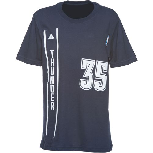 Image for adidas Boy's Oklahoma City Thunder Kevin Durant #35 Flat Gametime T-shirt from Academy