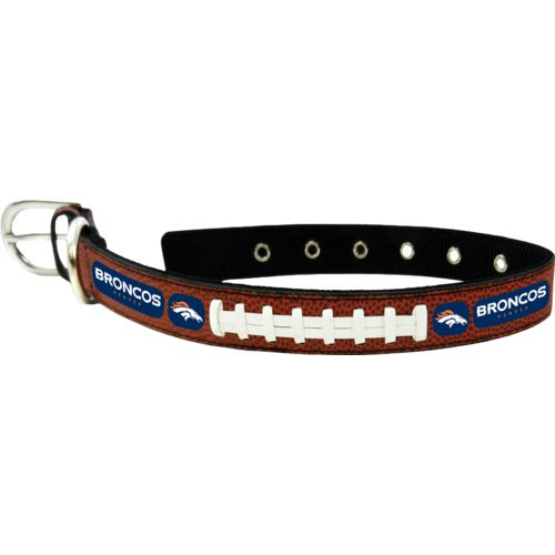 GameWear Denver Broncos Classic Leather Football Collar