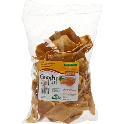 Display product reviews for Healthy Hide Good N Fun 1 lb. Chicken Basted Chips