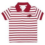 Two Feet Ahead Toddlers' University of Arkansas Stripe Golf Shirt