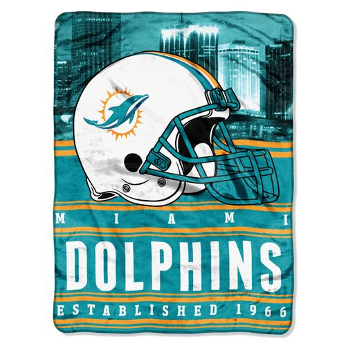 The Northwest Company Miami Dolphins Stacked Silk Touch