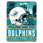 The Northwest Company Miami Dolphins Stacked Silk Touch Throw