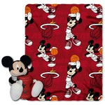 The Northwest Company Miami Heat Mickey Mouse Hugger and Fleece Throw Set