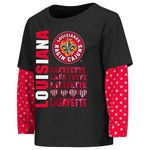 Colosseum Athletics Toddler Girls' University of Louisiana at Lafayette Super Cool Layered T-shi