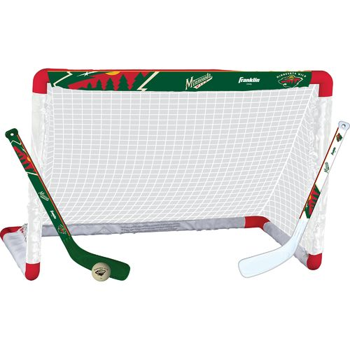 Franklin Minnesota Wild Mini Hockey Goal Set