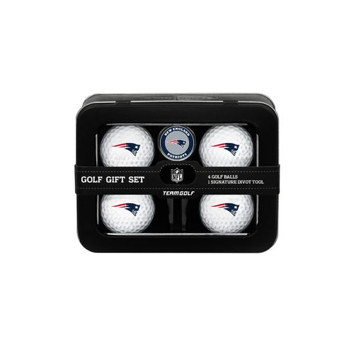 Team Golf New England Patriots 4-Ball Tin Gift Set