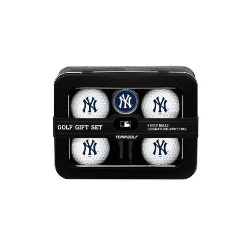 Team Golf New York Yankees 4-Ball Tin Gift Set
