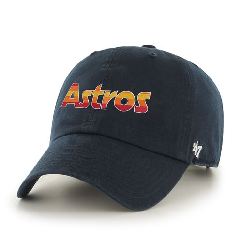 '47 Men's Houston Astros Rainbow Wordmark Clean Up Cap