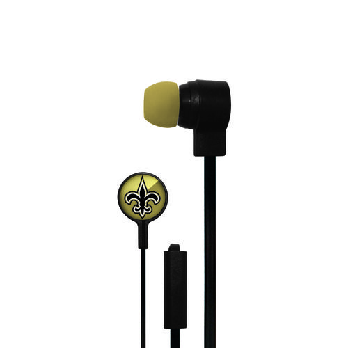 Mizco New Orleans Saints Big Logo Earbuds