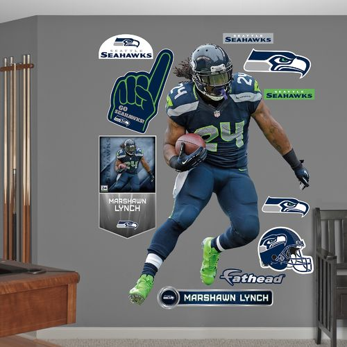 Fathead Seattle Seahawks Marshawn Lynch Home Real Big Wall Decal