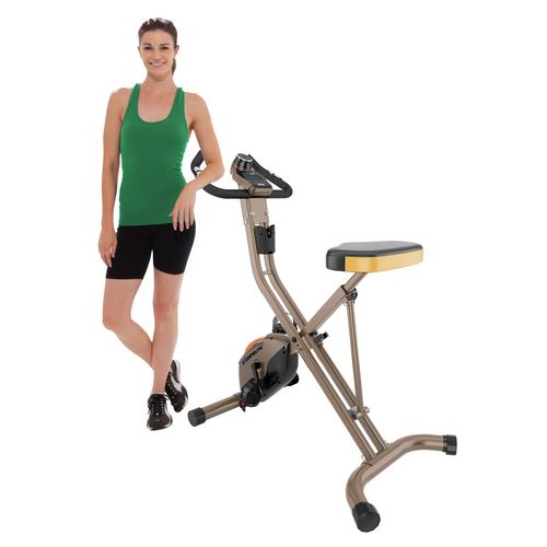 Exerpeutic 500 XLS Foldable Magnetic Upright Exercise Bike