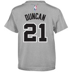NBA Boys' San Antonio Spurs Tim Duncan Flat Player T-shirt