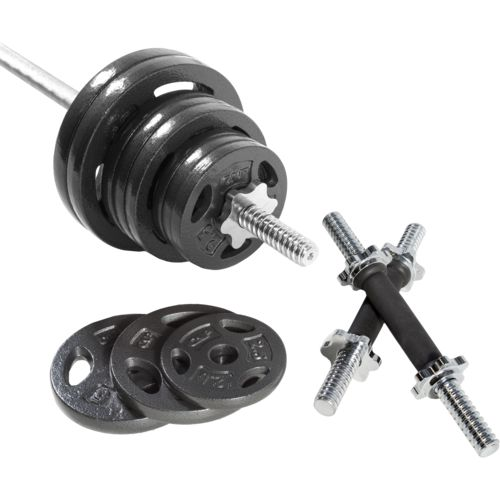 CAP Barbell 110 lb. Regular Grip Barbell Weight Set