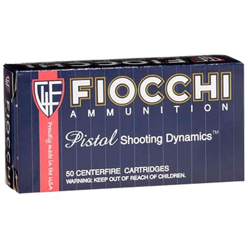 Fiocchi 210-Grain Lead Round Nose Flat Point Centerfire Handgun Ammunition