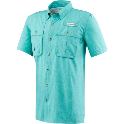 Heather polyester shirt academy for Polyester fishing shirts