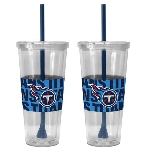 Boelter Brands Tennessee Titans Bold Neo Sleeve 22 oz. Straw Tumblers 2-Pack