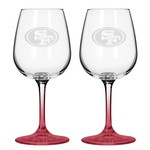 Boelter Brands San Francisco 49ers 12 oz. Wine Glasses 2-Pack