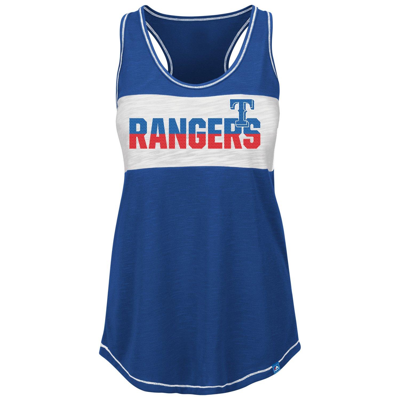 Majestic Women's Texas Rangers Game Time Glitz Tank
