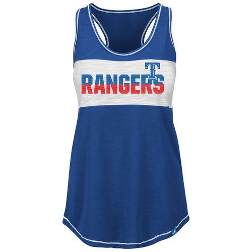 Majestic Women's Texas Rangers Game Time Glitz Tank Top