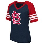 G-III for Her Women's St. Louis Cardinals G34Her Carve Up V-neck T-shirt