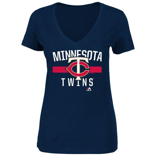 Majestic Women's Minnesota Twins One Game at a Time T-shirt