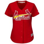 Majestic Women's St. Louis Cardinals Yadier Molina #4 Cool Base Replica Jersey - view number 2