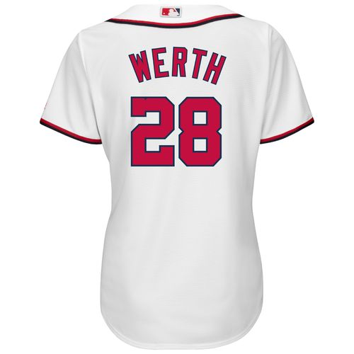 Majestic Women's Washington Nationals Jayson Werth #28 Cool Base Replica Home Jersey
