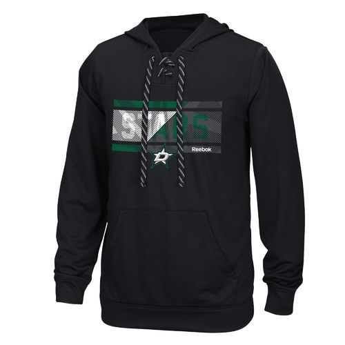Reebok Men's Dallas Stars Face Off Freeze Stripe Hoodie