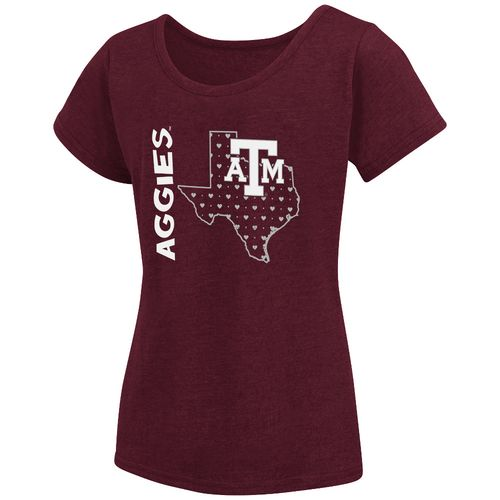 Colosseum Athletics Girls' Texas A&M University T-shirt