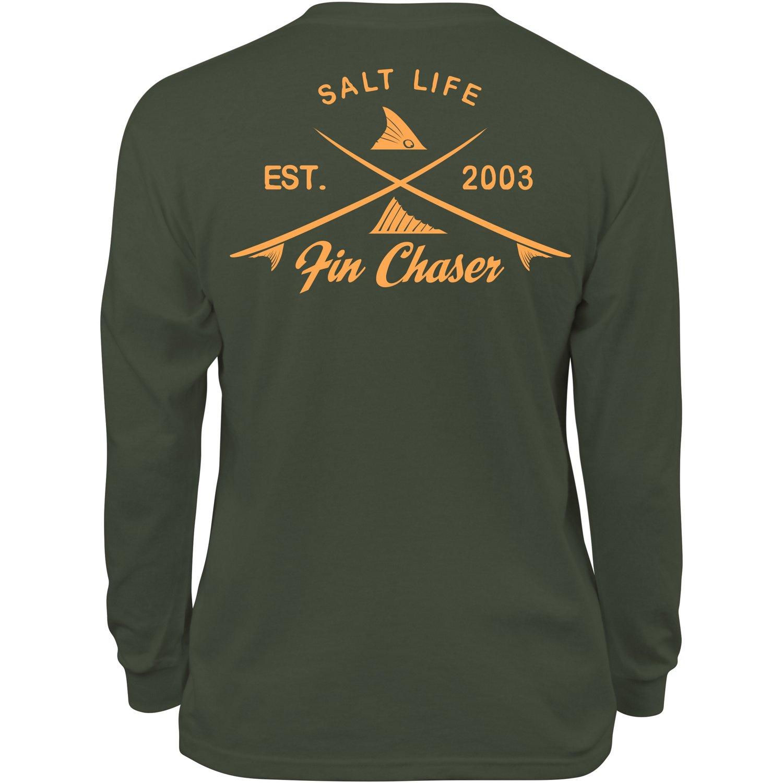 Salt life kids 39 fin chaser long sleeve t shirt academy for Salt life long sleeve fishing shirts