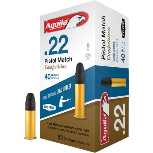 Aguila Ammunition .22 Caliber 40-Grain Match Rimfire Pistol Ammunition