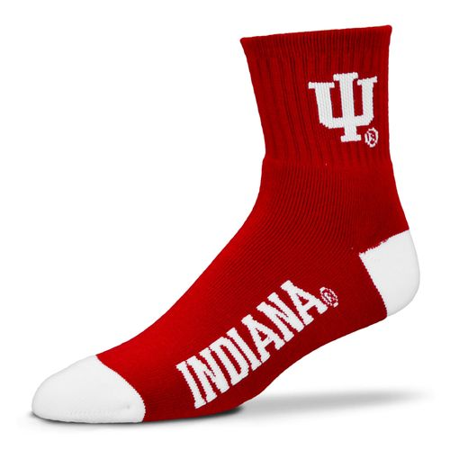 For Bare Feet Men's Indiana University 501 Quarter Socks