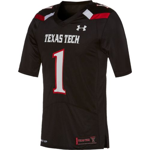 Under Armour Men's Texas Tech University No. 1 Replica Home Football Jersey