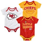 NFL Infants' Kansas City Chiefs 3 Points 3-Piece Bodysuit Set