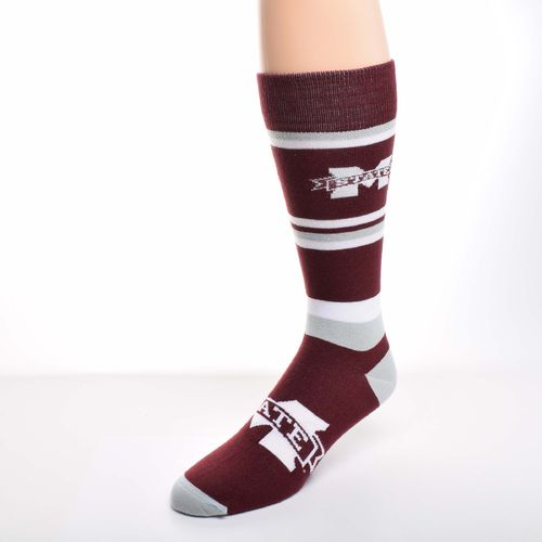 For Bare Feet Men's Mississippi State University Dress Socks