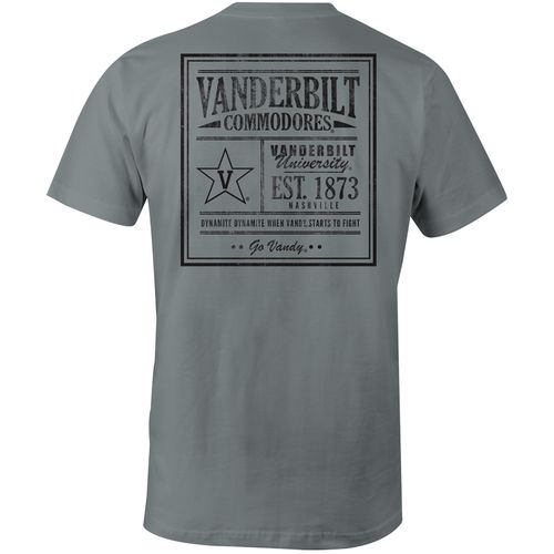 Image One Men's Vanderbilt University Vintage Poster Comfort Color T-shirt