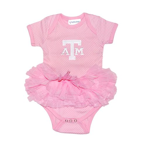 Two Feet Ahead Infant Girls' Texas A&M University Pin Dot Tutu Creeper