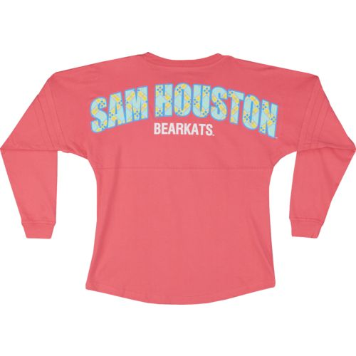 Boxercraft Women's Sam Houston State University Coral Pom Pom Jersey