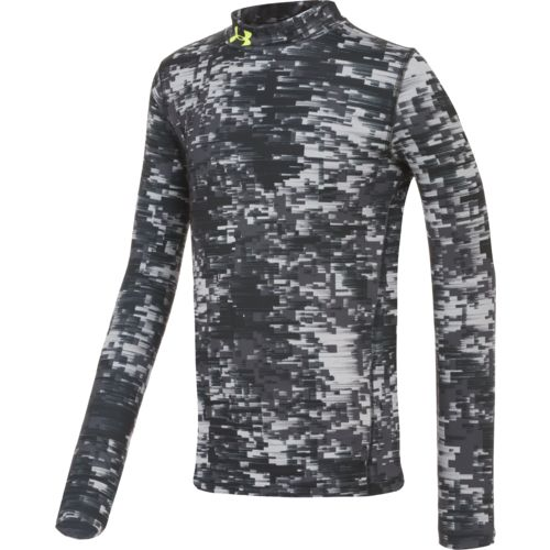 Under Armour® Boys' ColdGear® Armour Up Printed Mock Top