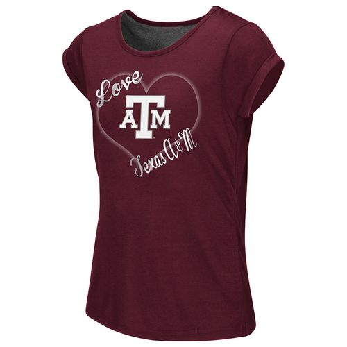 Colosseum Athletics™ Girls' Texas A&M University Baywatch Split Back T-shirt