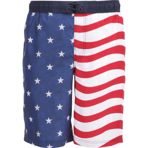 O'Rageous Men's Americana Flag E Boardshort