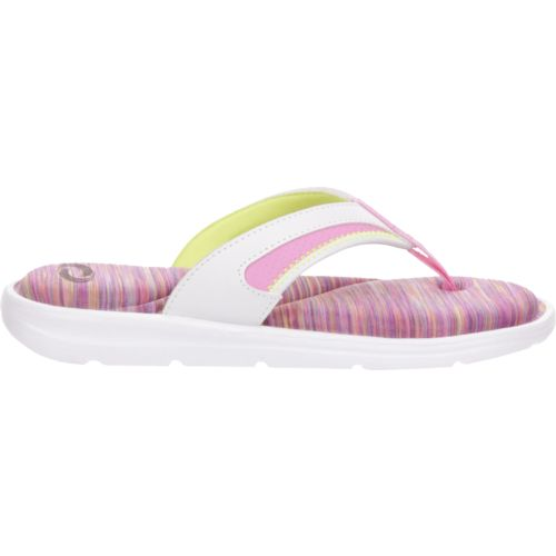 O'Rageous Girls' Space-Dye Memory Thong Sandals