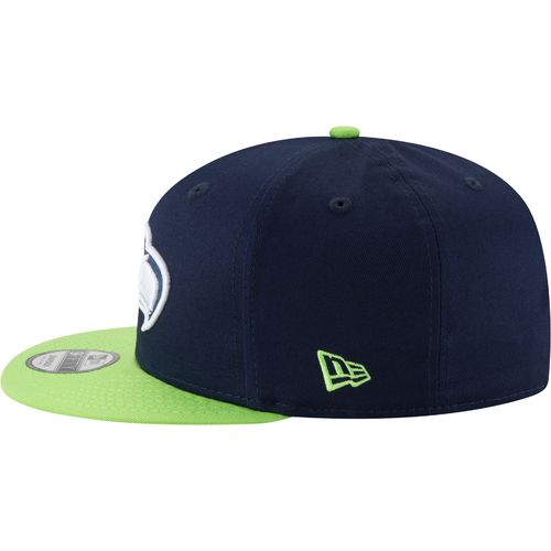 New Era Men's Seattle Seahawks 9FIFTY Baycik Snapback Cap - view number 4