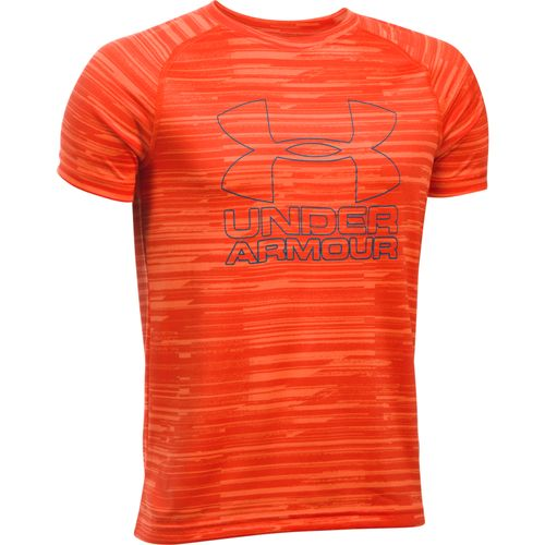 Under Armour Boys' Printed Hybrid T-shirt