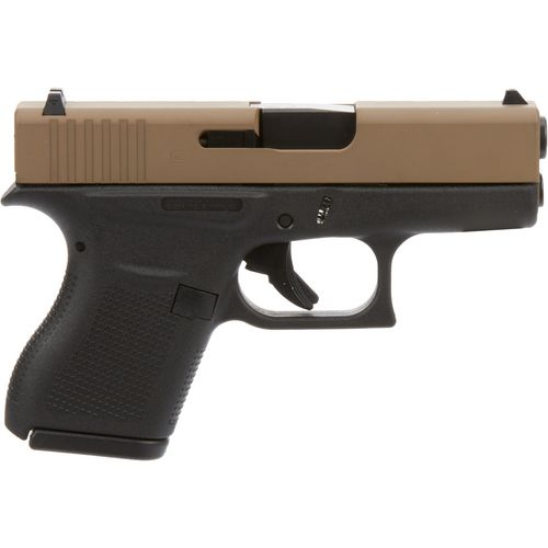 GLOCK 43 9mm Pistol with FDE Slide and Black Frame